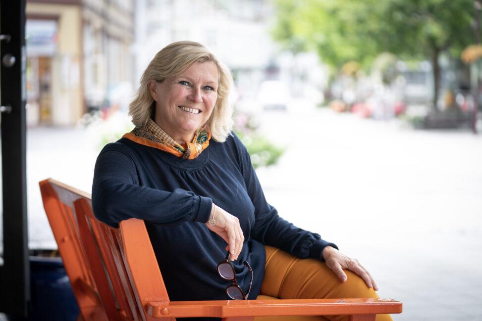 Signe Tynning i bymiljøet i Porsgrunn