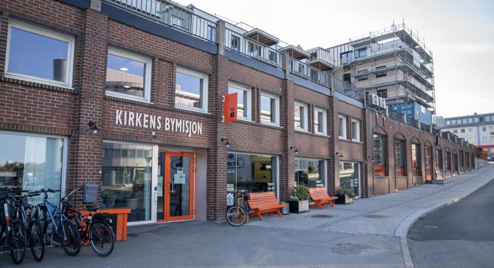 Utsiden av Møtestedet, Kirkens Bymisjons kafé i Bodø