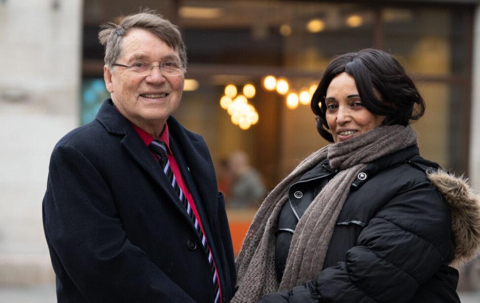 Gunnar Stålsett og Lula Tekle